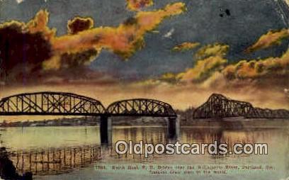 North Bank RR Bridge - Portland, Oregon OR Postcard