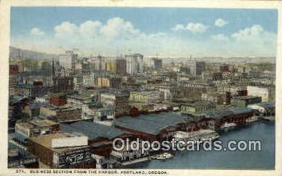 Business Section - Portland, Oregon OR Postcard
