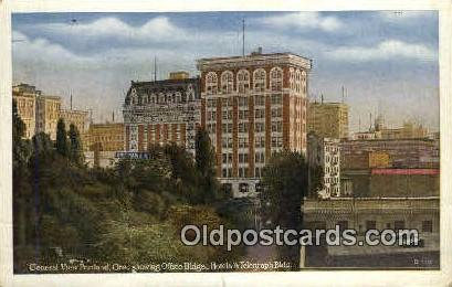 Office Bldgs & Hotels - Portland, Oregon OR Postcard