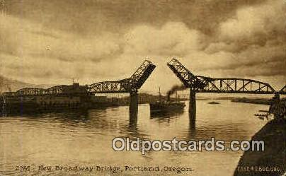 New Broadway Bridge - Portland, Oregon OR Postcard