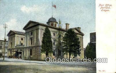 Post Office Bldg - Portland, Oregon OR Postcard