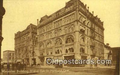 Worcester Bldg - Portland, Oregon OR Postcard