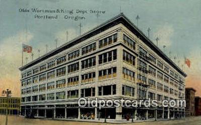 Olds Wortman & King Dept Store - Portland, Oregon OR Postcard