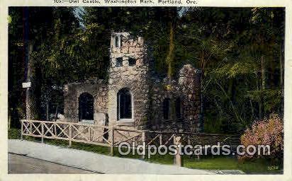 Owl Castle, Washington Park - Portland, Oregon OR Postcard