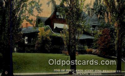 Residences - Portland, Oregon OR Postcard