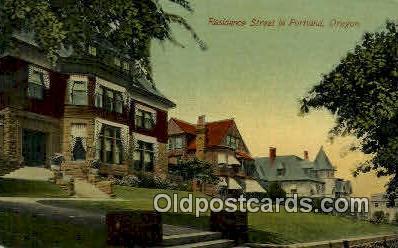Residence St - Portland, Oregon OR Postcard