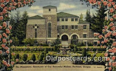 Monastery, Sanctuary of Our Sorrowful Mother - Portland, Oregon OR Postcard