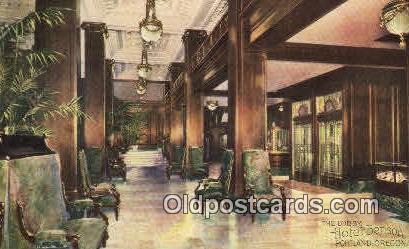 Lobby, Hotel Benson - Portland, Oregon OR Postcard