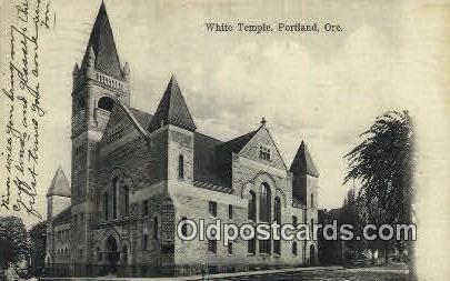 White Temple - Portland, Oregon OR Postcard