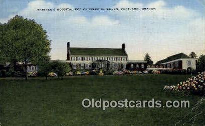 Shriner's Hospital for Crippled Children - Portland, Oregon OR Postcard