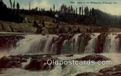 Falls of the Willamette - Portland, Oregon OR Postcard