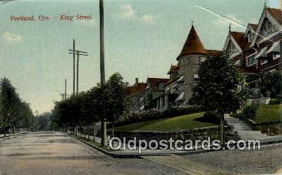 King Street - Portland, Oregon OR Postcard
