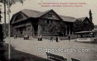 Forestry Bldg - Portland, Oregon OR Postcard