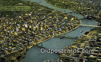 Roses & Bridges - Portland, Oregon OR Postcard