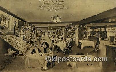 Ye Oregon Grille, Hotel Oregon - Portland Postcard