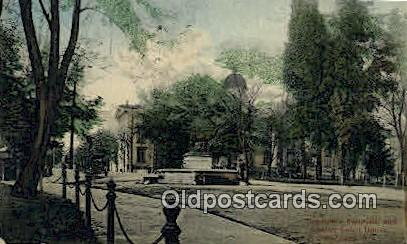 Thompson Fountain & County Court House - Portland, Oregon OR Postcard