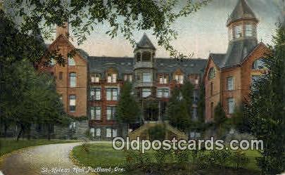 St Helens Hall - Portland, Oregon OR Postcard