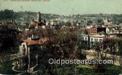 Portland Heights - Oregon OR Postcard