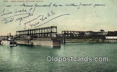 Steel Bridge - Portland, Oregon OR Postcard