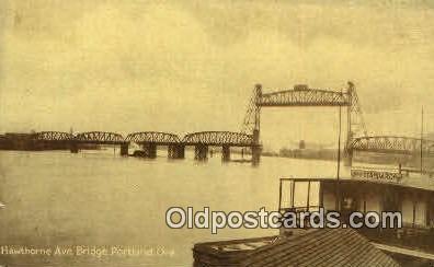 Hawthrone Ave Bridge - Portland, Oregon OR Postcard