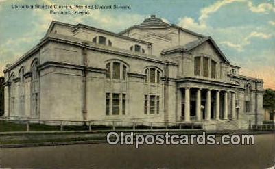 Christian Science Church - Portland, Oregon OR Postcard