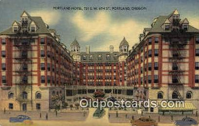 Portland Hotel - Oregon OR Postcard