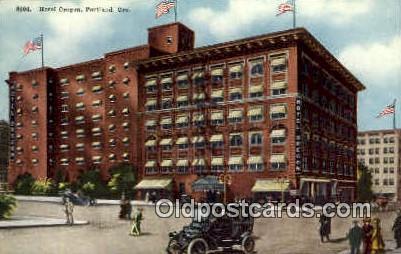 Hotel Oregon - Portland Postcard