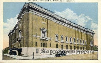 The Auditorium, Portland - Oregon OR Postcard