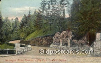 Washington St, City Park - Portland, Oregon OR Postcard