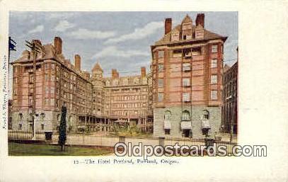 Hotel Portland - Oregon OR Postcard