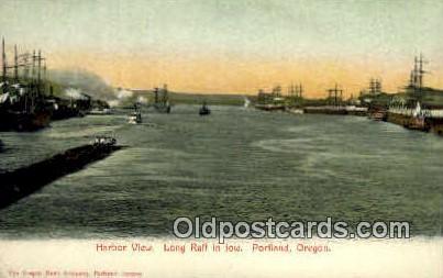 Harbor, Long Raft - Portland, Oregon OR Postcard