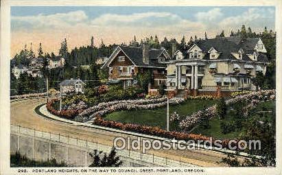 Portland Heights, Council Crest - Oregon OR Postcard