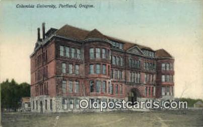 Columbia University - Portland, Oregon OR Postcard