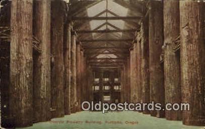 Interior Forestry Bldg - Portland, Oregon OR Postcard