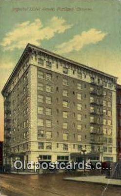 Imperial Hotel Annex - Portland, Oregon OR Postcard