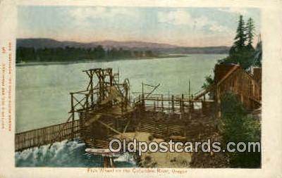 Fish Wheel - Columbia River, Oregon OR Postcard