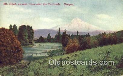 Peninsula - Mt Hood, Oregon OR Postcard