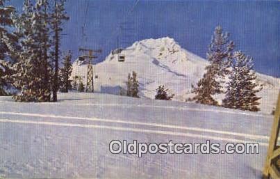 Ski Lift, Timberline Lodge - Mt Hood, Oregon OR Postcard