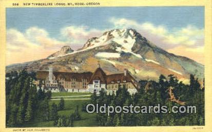 New Timberline Lodge - Mt Hood, Oregon OR Postcard