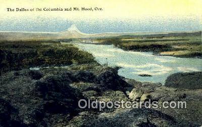 The  Dalles - Mt Hood, Oregon OR Postcard