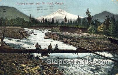 Fishing Stream - Mt Hood, Oregon OR Postcard