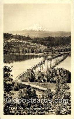 Real Photo - Columbia River - Mt Hood, Oregon OR Postcard