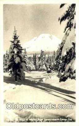 Real Photo - Government Camp - Mt Hood, Oregon OR Postcard