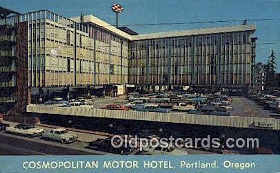 Cosmopolitan Motor Hotel - Portland, Oregon OR Postcard