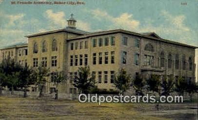St. Francis Academy - Baker City, Oregon OR Postcard