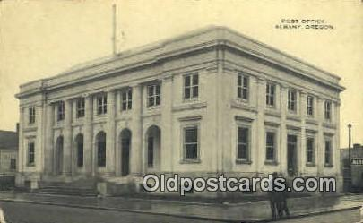 Post Office - Albany, Oregon OR Postcard