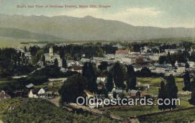 Business District - Baker City, Oregon OR Postcard