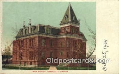 High School, Baker City - Oregon OR Postcard