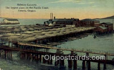 Salmon Cannery, Pacific Coast - Astoria, Oregon OR Postcard