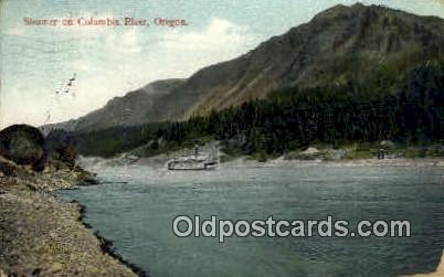 Steamer - Columbia River, Oregon OR Postcard